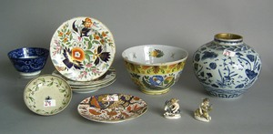 Misc. porcelain to include Fazackerly style bowl,a