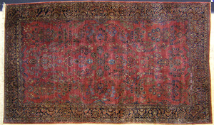 Roomsize Sarouk rug, ca. 1920, with overall floral