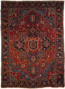 Roomsize Heriz rug, ca. 1930, with central medalli