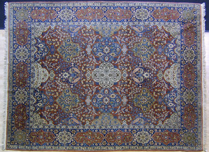 Roomsize Tabriz rug, ca. 1930, with overall floral
