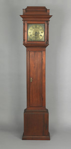 Pennsylvania William & Mary walnut tall case clock