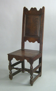Charles II joined oak side chair, ca. 1680, with s