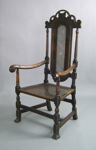 English William & Mary walnut armchair, ca. 1700,i
