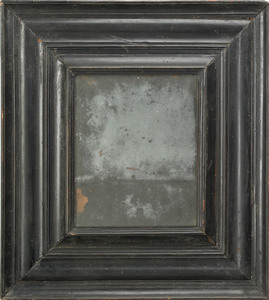 William & Mary ebonized pine looking glass, ca. 17