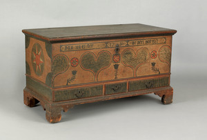 Lehigh County, Pennsylvania painted dower chest, l