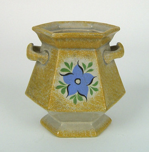 Yellow spatter sugar, 19th c., with morning glory,