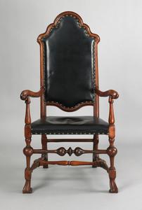 Philadelphia Queen Anne walnut armchair, ca. 1730,