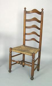 Pennsylvania five-slat maple ladderback side chair