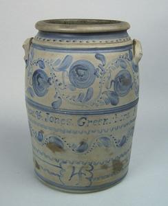 Pennsylvania 4-gallon stoneware crock, ca. 1860, i