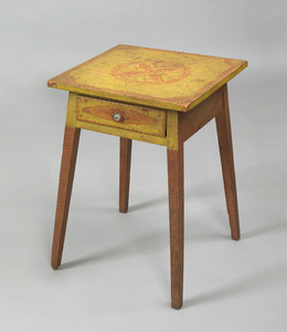 Pennsylvania painted poplar and pine one drawer st