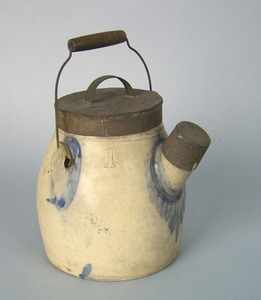 Pennsylvania one gallon stoneware batter jug, impr