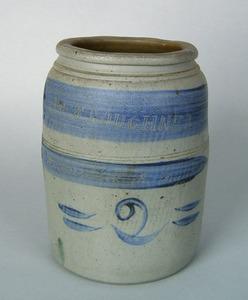 Stoneware crock, inscribed
