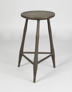 Pennsylvania windsor stand, ca. 1810, with a disho