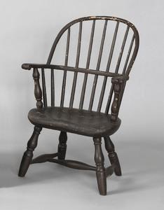 Pennsylvania child's sackback windsor armchair, ca