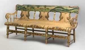 Pennsylvaniapainted settee, mid 19th c., attribute