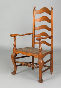 Philadelphia maple armchair, attributed to the wor