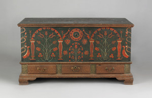 Berks County, Pennsylvania painted dower chest dat