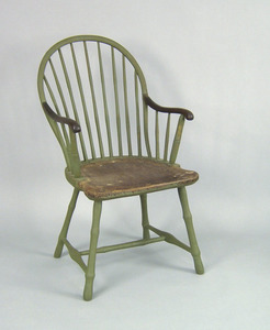 Philadelphia sackback windsor chair, ca. 1800, bra