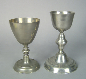 Two Continental Europe, 1750-1800, pewter chalices