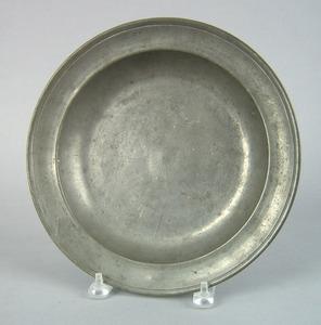 Philadelphia pewter shallow bowl, impressed