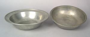German pewter bowl, 19th c., impressed