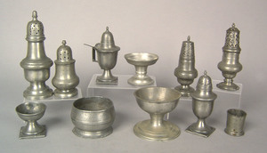 German and English pewter tableware, 18th/19th c.,