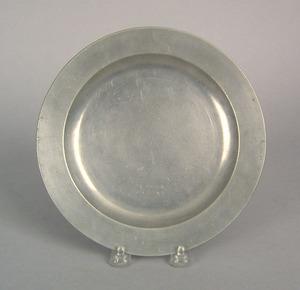 Philadelphia pewter plate, impressed