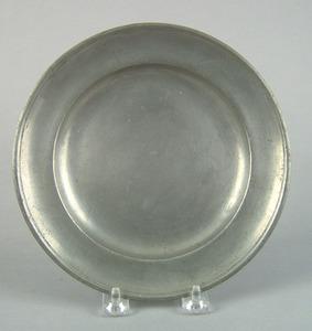 Philadelphia pewter plate, early 19th c., bearingh