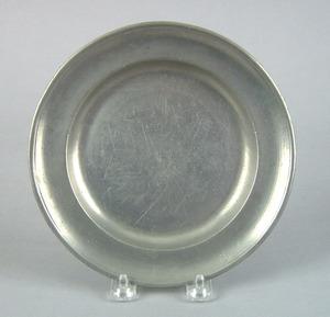 Philadelphia pewter plate by Benjamin and Joseph H