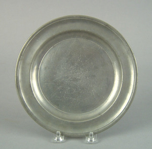 Philadelphia pewter plate, late 18th c., bearing t