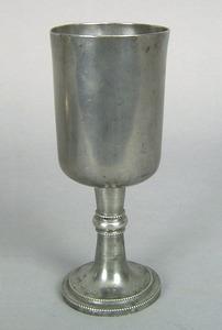 Pewter chalice, probably Philadelphia, 1790-1810,