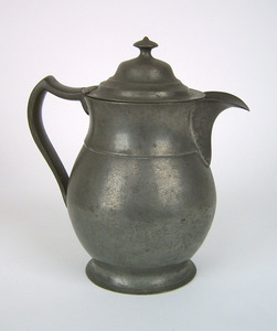 Philadelphia pewter pitcher, ca. 1845, impressed