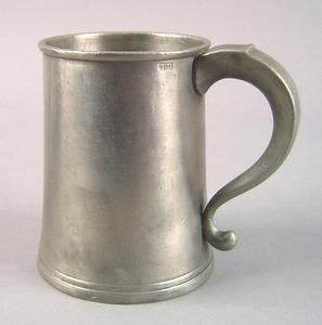 Philadelphia pewter tankard, 1807-1813, bearing th