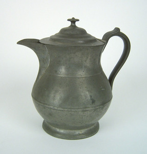 Large pewter pitcher, attributed to Thomas D. Boar