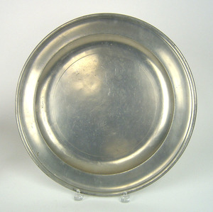 New York pewter charger, impressed