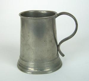 Philadelphia pewter mug, ca. 1839-1853, impressedW