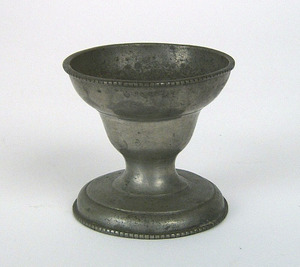 American pewter salt, attributed to Parks Boyd, Ph