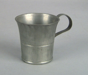 American pewter mug, impressed