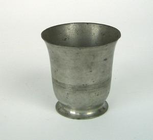 American pewter beaker, 1830-1860, possibly Meride