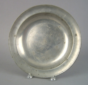Philadelphia pewter charger, attributed to John An
