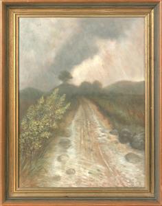 Ben Austrian(American, 1870-1921), oil on board la