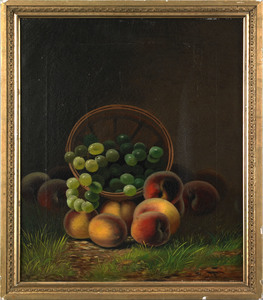 American School(19th c.), oil on canvas still life