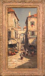 Arthur Vidal Diehl(American, 1870-1929), oil on ca