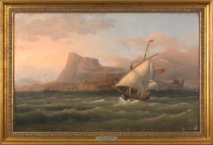 George Robert Bonfield(American, 1805-1898), oil o