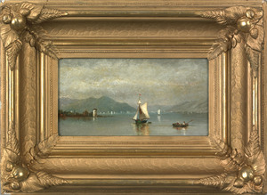 Hudson River School(19th c.), pair of oil on canva