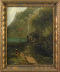 Thomas Benjamin Pope(American, 1834-1891), oil ono