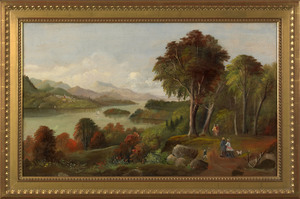 Hudson River School(19th c.), oil on canvas landsc