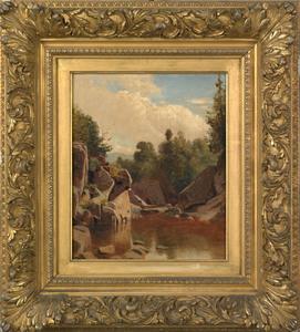 William M. Hart(American, 1823-1894), oil on canva
