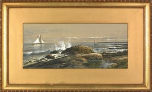 Edmund Darch Lewis(American, 1835-1910), gouache c