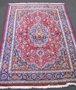 Roomsize Kashan rug, ca. 1950, 11'10